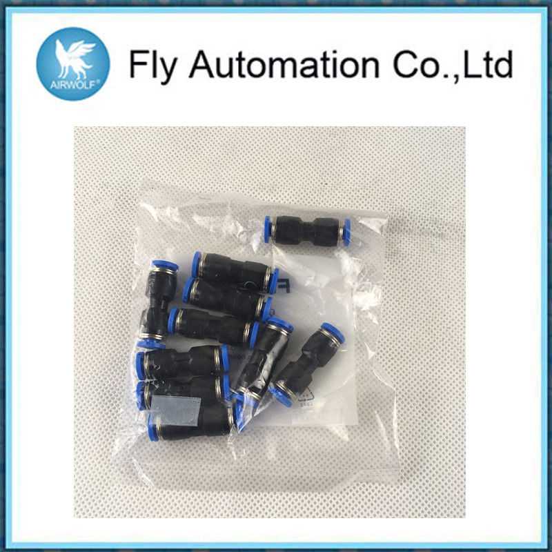 Plastic Body Pneumatic System Components Push In Connector 4mm Size
