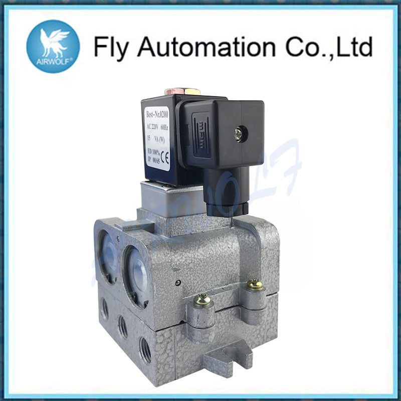 "Single Electronic Control 5/2 Way Aluminium Alloy K25JD-08 1/4"" Slivery Cut-off Type Reversing Valve"